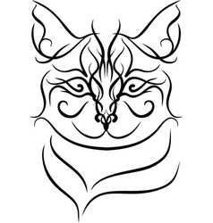 mandalas cat vector image