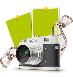 Old photo camera collage vector