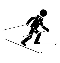 ski race flat icon vector image vector image