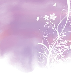 floral watercolor background 1804 vector image vector image