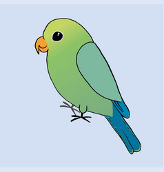 a green and blue parrot vector image