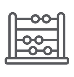 abacus line icon school and education vector image