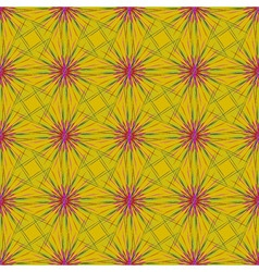 Abstract seamless pattern with fractal star on a vector