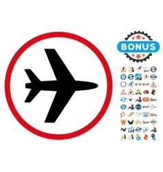 Airport Icon with 2017 Year Bonus Symbols vector image