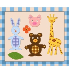 animal scrapbook elements vector image