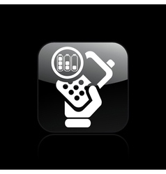 battery phone icon vector image