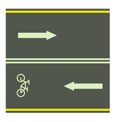 bike path icon cartoon style vector image