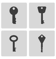 black key icons set vector image