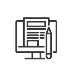 blogging icon vector image