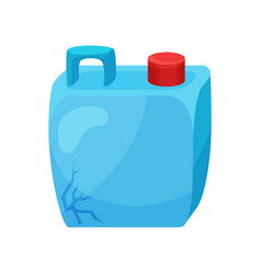 blue cracked canister with red lid plastic vector image