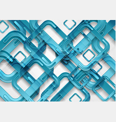 bright blue abstract tech geometric background vector image