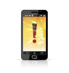 Broken Smart Phone Flat Icon vector