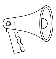 Bullhorn icon outline style vector