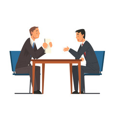Business negotiations businessmen meeting vector