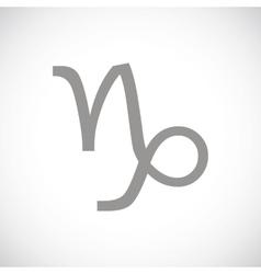 Capricorn black icon vector