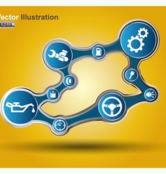 circle system vector image
