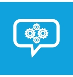 Cogs message icon vector