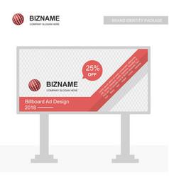 Company bill board design with ball logo vector
