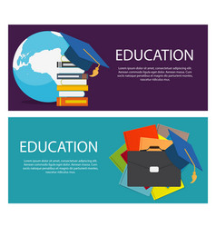 concept of on line education vector image