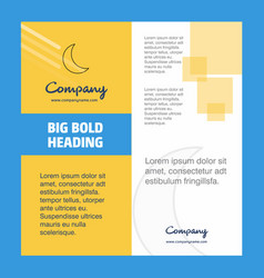 Cresent company brochure title page design vector