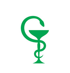 cup aesculapius vector image