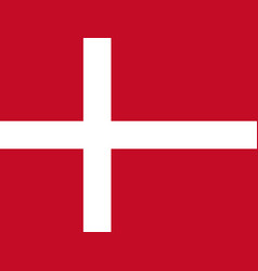 danish flag flat layout vector image