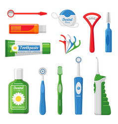 dental care equipment flat vector image