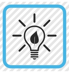 Eco Light Bulb Icon In a Frame vector