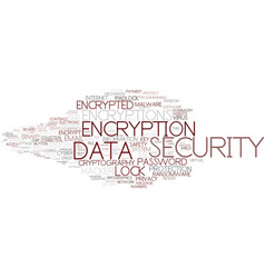 encryptions word cloud concept vector image