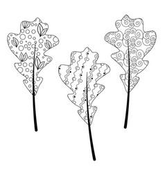 Entangle autumn leaf for adult antistress vector