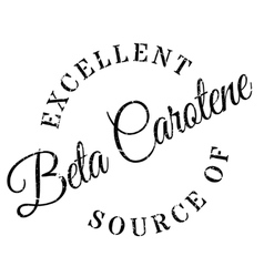 Excellent source of beta carotene stamp vector