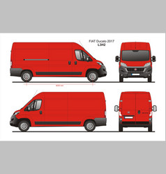 Fiat ducato cargo delivery van 2017 l3h2 vector