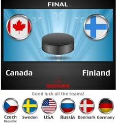 Final of the world championship hockey background vector image