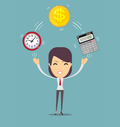 Financial advisor and time management vector