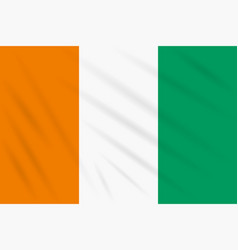 Flag cote d ivoire - ivory coast swaying in wind vector