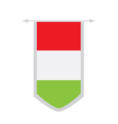 flag of hungary on a banner vector image