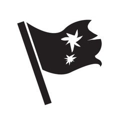 Flag simple icon vector image