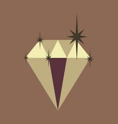 Flat icon on theme arabic business precious stone vector