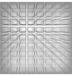Gray color abstract infinity background 3d vector