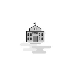 hotel web icon flat line filled gray icon vector image
