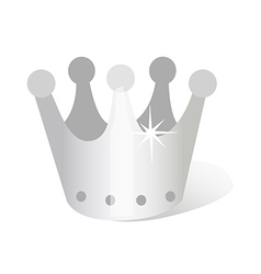 Icon silver crown vector