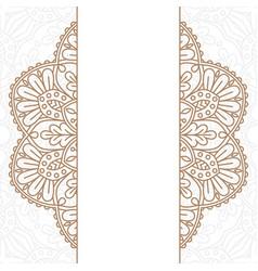 Invitation card with mandala vector