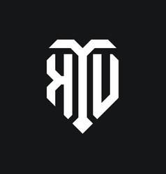 Ku logo monogram design template vector
