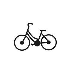 line art of bicycle logo design template vector image