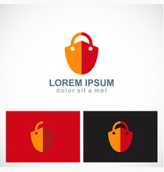 lock shield secure logo vector image