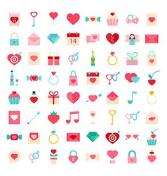 Love flat style icons vector image