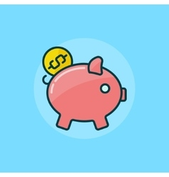 Moneybox flat icon vector