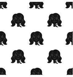 Mother icon in black style isolated on white vector
