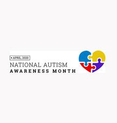national autism awareness month vector image