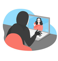 Online date with fraud virtual crime vector